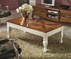 Quadrifoglio mesa de centro, Mesa de apertura rectangular
