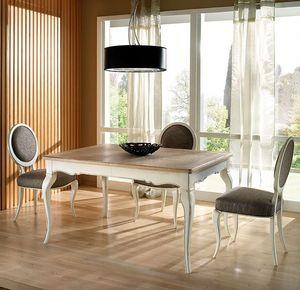 R 302, Mesa rectangular, extensible, lacado, clásico