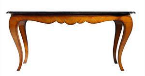 Reni RA.0671, Mesa extensible Chippendale de cerezo