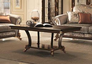 Sinfonia mesa de café, Mesa de centro clásica por la habitación del centro, con las piernas delgadas