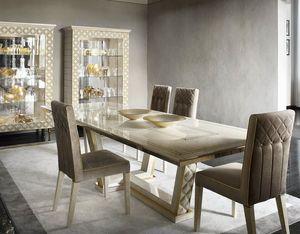 SIPARIO Mesa, Mesa de madera rectangular para comedores clásicos