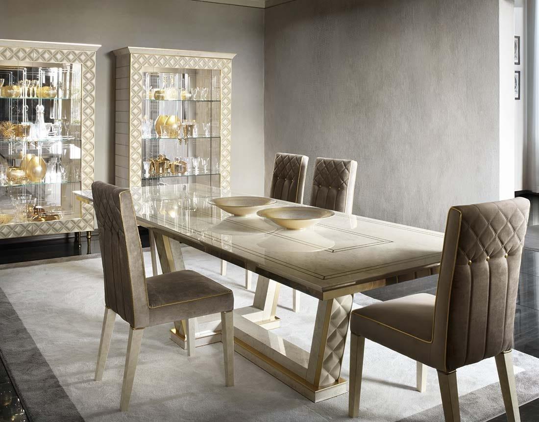 Mesa de madera rectangular para comedores clásicos | IDFdesign