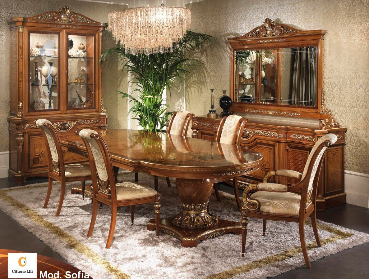 Muebles clásicos para el comedor, mesa incrustado clásica | IDFdesign