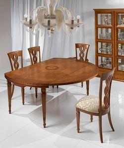 T492 I Capitelli mesa, Mesa extensible de estilo clásico, de madera maciza