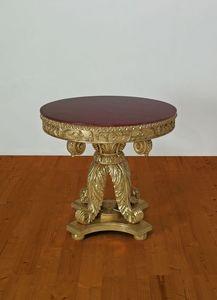 TABLA ART. TL 0002, Tallado mesa central para el comedor, de estilo imperio