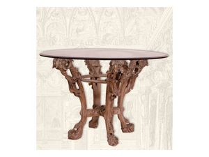 Table art. Sari, Mesa de comedor de madera hecho a mano, estilo Art Deco