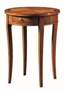Tiziano FA.0139, Pequeña mesa redonda con un cajón, hecho a mano