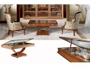 TL30 Libro mesa pequeña, Mesa de café en forma de libro, mostrar para los ornamentos