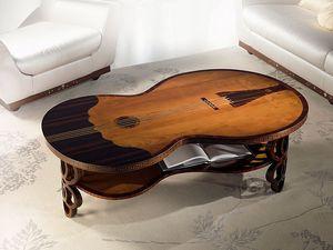 TL36 Pois mesa pequeña, Mesa de café clásico, violín bajo la forma, por la sala de estar