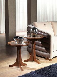 TL50 - TL51 Desyo mesa peque�a, Mesas de centro con tapa redonda de estilo cl�sico