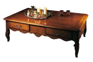 Toulon VS.5021, Mesa de centro rectangular de madera de nogal, '700 estilo provenzal
