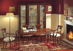 Voltaire mesa rectangular, Mesa rectangular de madera de nogal, pulido con cera