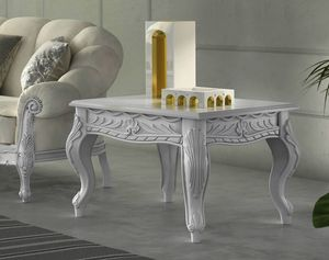 Zaffiro Art. 8241 - 8251, Mesas de centro talladas en madera lacada