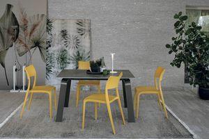 DEIMOS 130 TA191, Mesa extensible, marco de aluminio, tapa de gres porcelánico