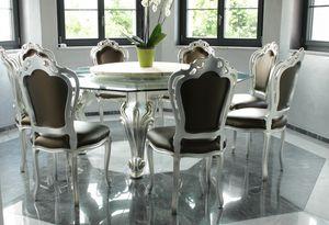 Dolce Vita, Mesa de comedor con tapa de vidrio octogonal