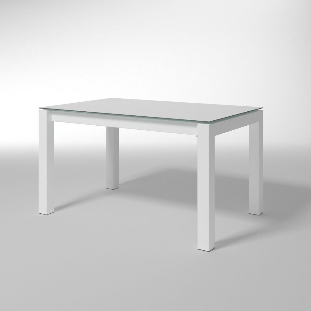 Mesa rectangular con tapa de cristal, para cocinas modernas   IDFdesign