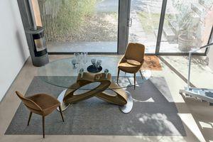 ECLIPSE TP400, Mesa con tapa de cristal templado para los comedores