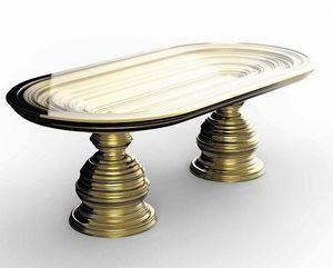 Frames Art. T06, Mesa con base de pan de oro