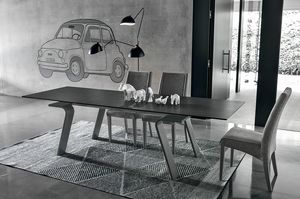 HERCULES TA125, Mesa rectangular extensible, estilo contemporáneo