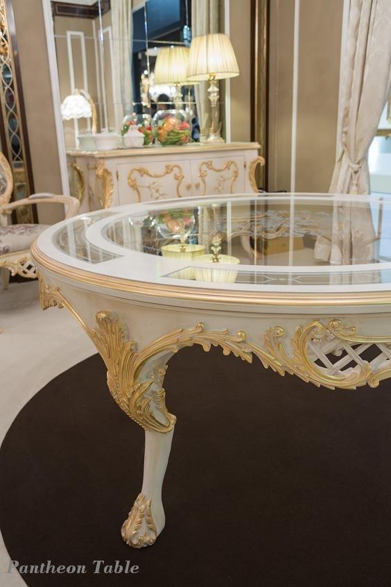 Pantheon mesa, Mesa redonda con tapa de cristal