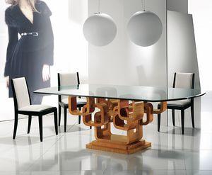 TA34K Glamour mesa, Elegante mesa con tapa de cristal