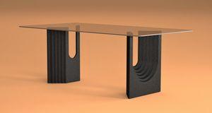 Ulisse, Mesa de comedor con base de piedra