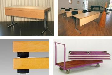 Conference 1875, Mesa plegable de usos múltiples, diferentes tamaños disponibles