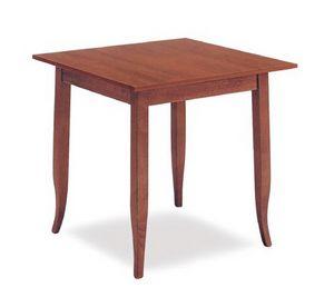 FT 600, Mesa de madera clásica, de hotel y restaurante