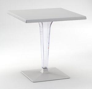FT 718, Mesa con base y tapa de aluminio, la columna de policarbonato