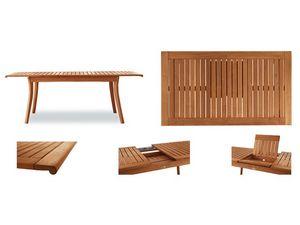 Harmony mesa extensible, Mesa de madera extensible, para ambientes al aire libre