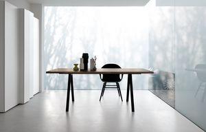Neat, Mesa de diseño con patas de aluminio, robustas y delgadas