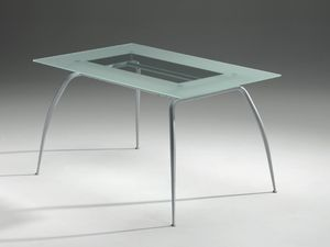 Primera table, Mesa con tapa de cristal, moderna, residencial