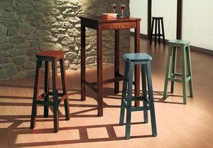 T/060, Rústico alta mesa de madera para bares, casas rurales, bares