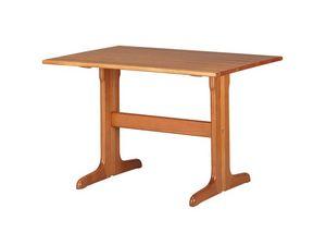 TV03, Mesa rectangular de madera maciza de haya, para los restaurantes