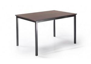 525, Mesa con patas de metal y parte superior personalizable