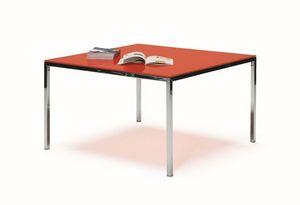 Ernesto Ice Kitchen, Mesa de metal, cromado o lacado, ideal para cocinas modernas