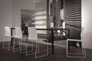 Ernesto Ice Living, Mesa de metal, adaptable, para comedores modernos