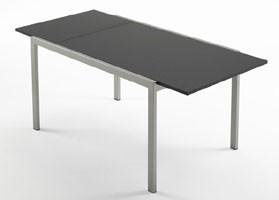 Re table, Mesa de comedor moderno, en madera de haya, para el hogar