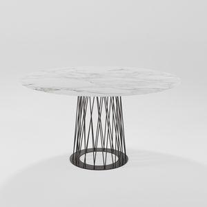 Roncisvalle, Mesa de comedor ovalada con base de hierro