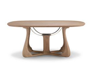 6104 Arpa, Elegante mesa de comedor ovalada