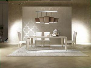 Dahlia 360T, Mesa de madera elegante