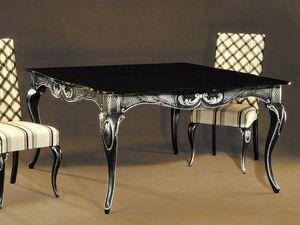 Ester mesa, Elegante mesa en madera lacada en negro