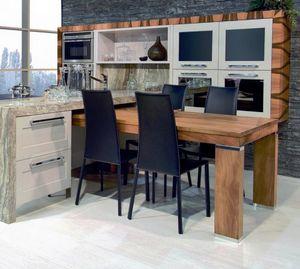 Nàscira 101, Mesa de comedor de madera maciza de nogal