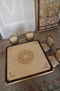 Nobile mesa, Mesa de comedor con tapa con incrustaciones