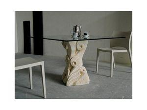 Apollo, Mesa con base de piedra de Vicenza tallado a mano