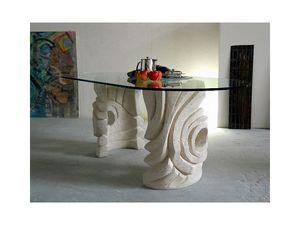 Niagara, Mesa de piedra ovalada para el hogar o la oficina