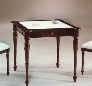 2245 mesa, Mesa con tapa de cuero, estilo inglés.