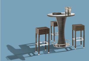 FT 2000, Mesa alta al aire libre con tapa de cristal