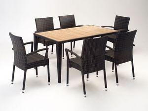 FT 2025.160 - London, Mesa y silla con apoyabrazos, diversos colores para exteriores