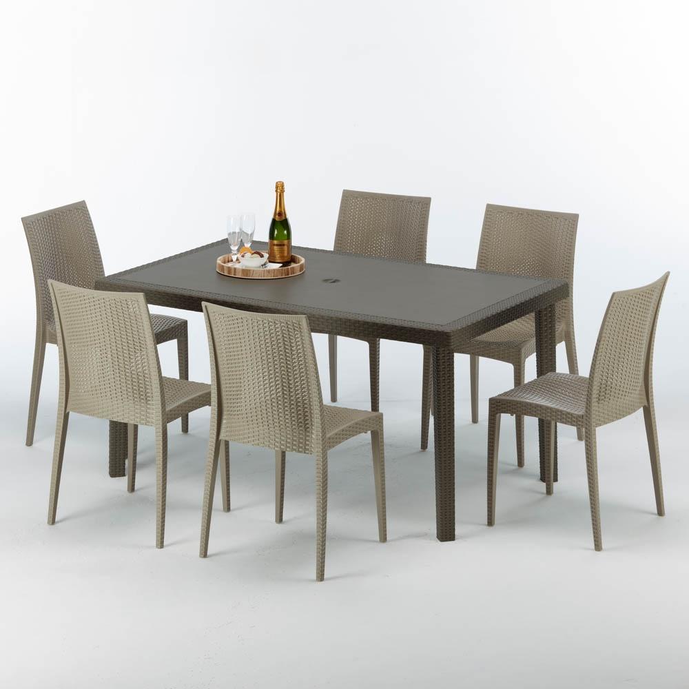 Mesa al aire libre, en ratán, hecho de polyrattan   IDFdesign